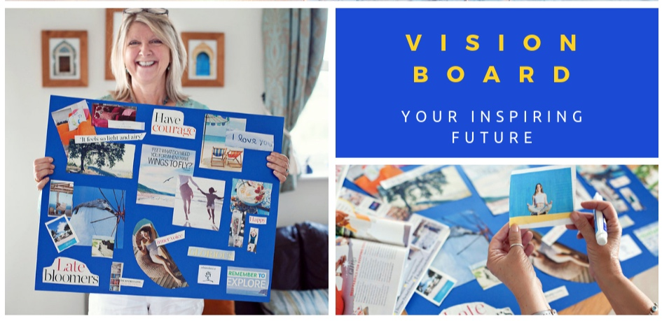 Then bring that vision to life! - Download my free guide to creating a vision board of what matters most to you, what you want more of in your life, and what you need to truly thrive.And if you want to translate this into tangible goals for a more fulfilling future, contact me for your free Vision Board Explorer worksheet.