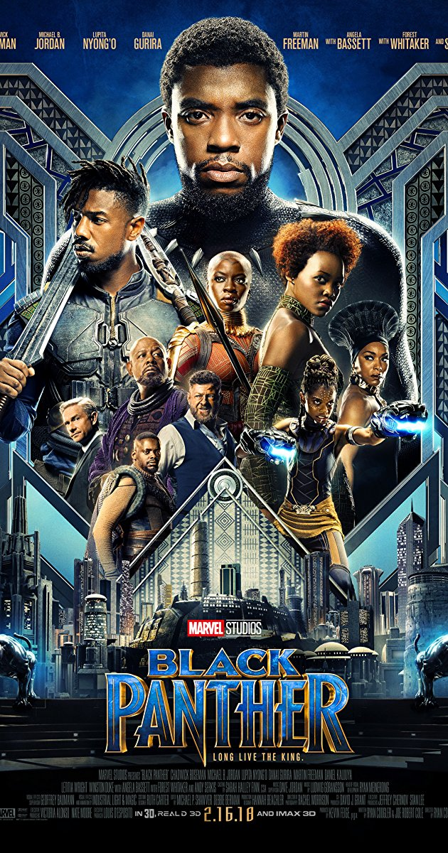 Black Panther - Now you KNOW that I have to mention the movie of the decade (yes, I said it), the Black Panther!If you watch this movie and do not like it, then the fact must be that you did not watch it at all. The Black Panther was beautifully done, excellently executed and super Black just like I like it!I could sit here and type my heart away about this movie, but it'd be useless. There are simply no words for how amazing this movie is. The best in the Marvel Universe, hands down.Do yourself a favor and watch it! And then watch it again.