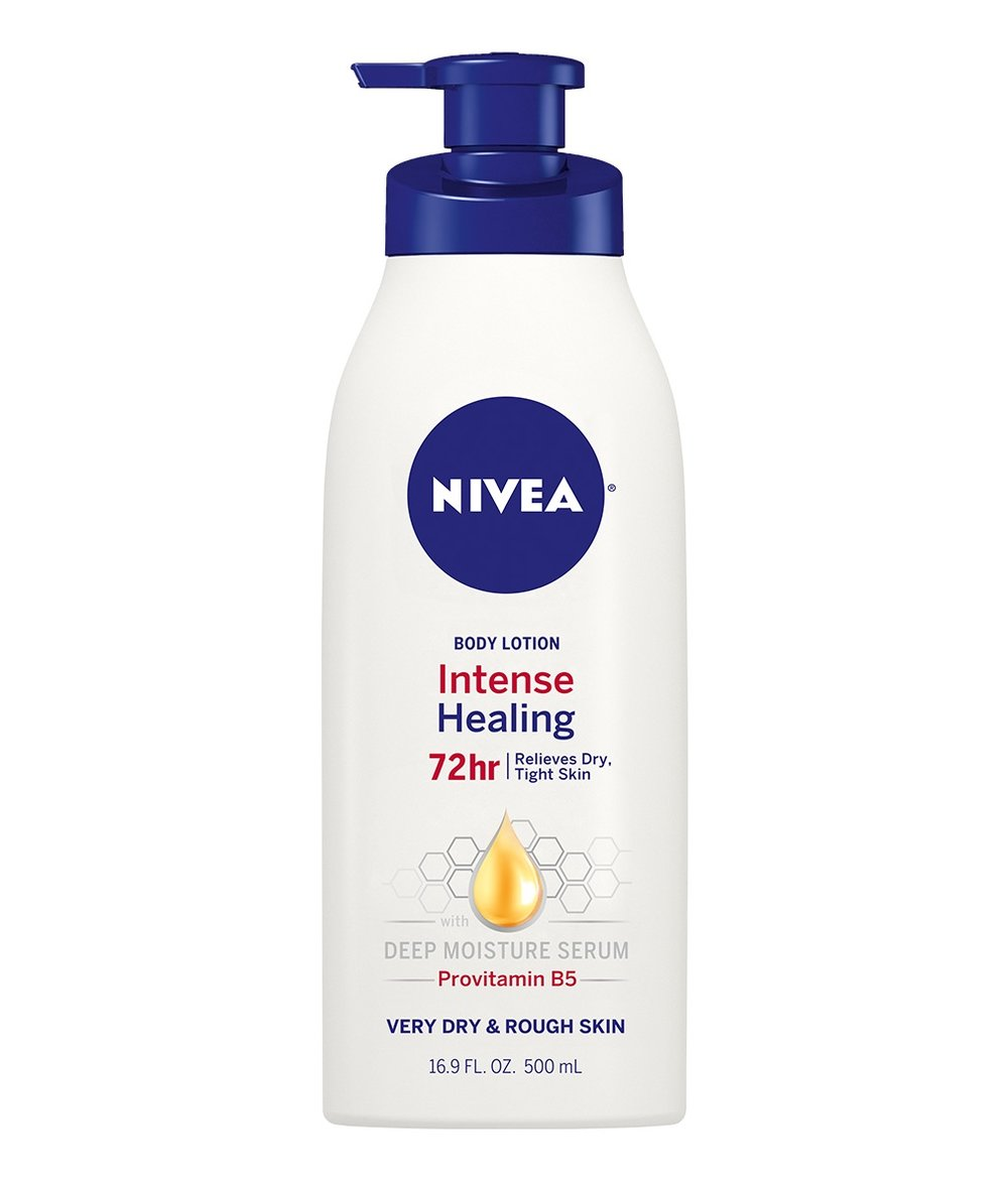Nivea Lotion - This is very reasonably priced and well-formulated lotion.It is very thick and, from my experiences, coats my dry skin very well. It even protects me through my sweat!You can find this lotion in your local Target, CVS, or WalMart and, best part, you won't break the bank to get it.