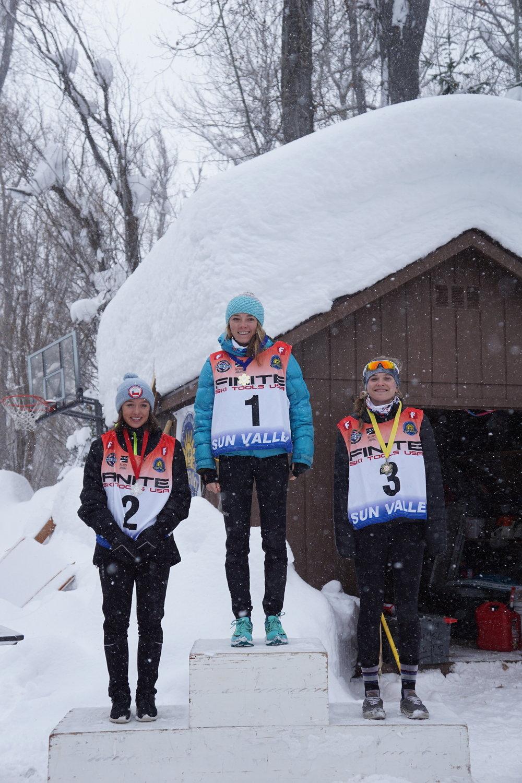 Anna Gibson U18 Sun Valley 1st place skate race.JPG