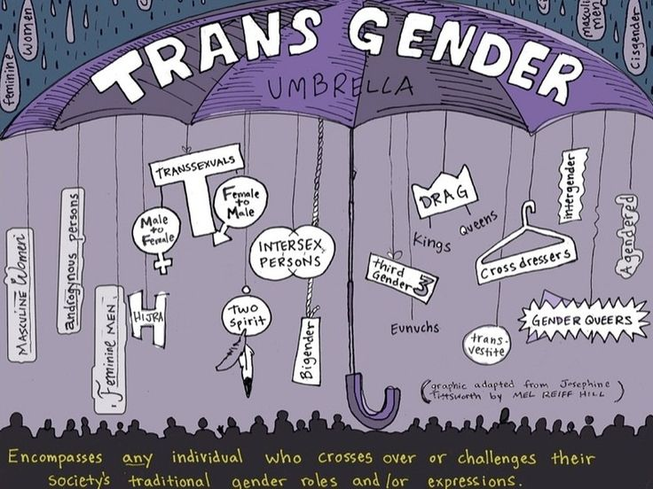 For the sake of this article, I try to use transgender a little more specifically than a catch all term, but I thought the graphic was helpful.