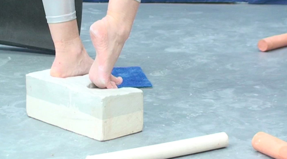 Foot work  (video still)  Digital video  6 minutes 18 seconds (loop)  2013