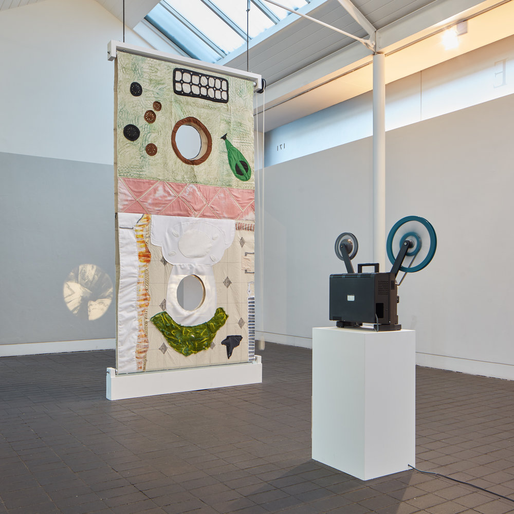 Channels: How to be a good mother, artist, wife and lover?   Exhibition view, Jerwood Visual Arts  2018  Photo: Tom Carter
