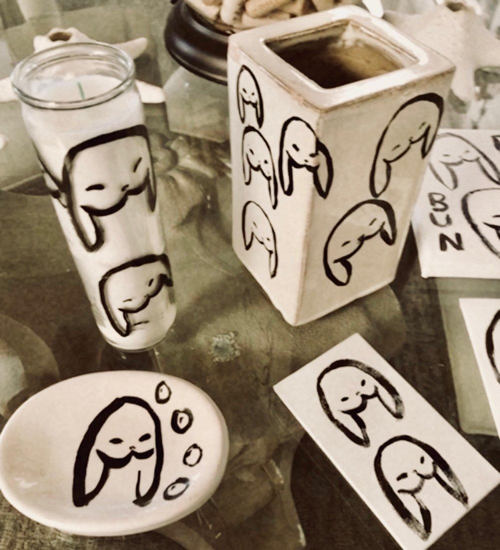 bun life = fun life - bunbun hand-painted goods