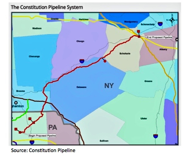 A Storm Upstate: NY Ruling on Constitution Pipeline Likely to Unleash Wrath - S&P GLOBAL. APRIL 18, 2016. It was a prophetic feature whose predictions came true on April 22, 2016 - less than a week after this feature ran.When a massive rainstorm hit the Catskills in June 2006, it caused severe flooding in upstate New York's Mohawk and Hudson river valleys and swept untold volumes of debris into streams and rivers. Anne Marie Garti ... watched as a seasonal stream swelled far beyond its bed and devoured her pond...[READ MORE]