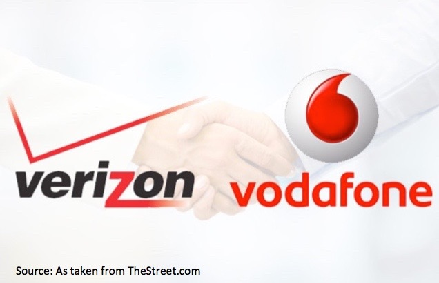 Verizon & Vodafone Top The 5 Best M&A Deals of the Last 5 Years - - TheStreet.com, MAY 27, 2014.Mergers can be as dicey - or as blissful - as modern-day marriages. In the aftermath of the global economic downturn, they can be especially delicate. It takes indomitable resolve and patience to create a masterful merger and begin a shared legacy. Here are the top five post-recession deals where companies got it right, despite the odds against them.[READ MORE]