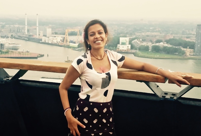 Amid my research tour - Atop the Euromast  - Rotterdam, Netherlands