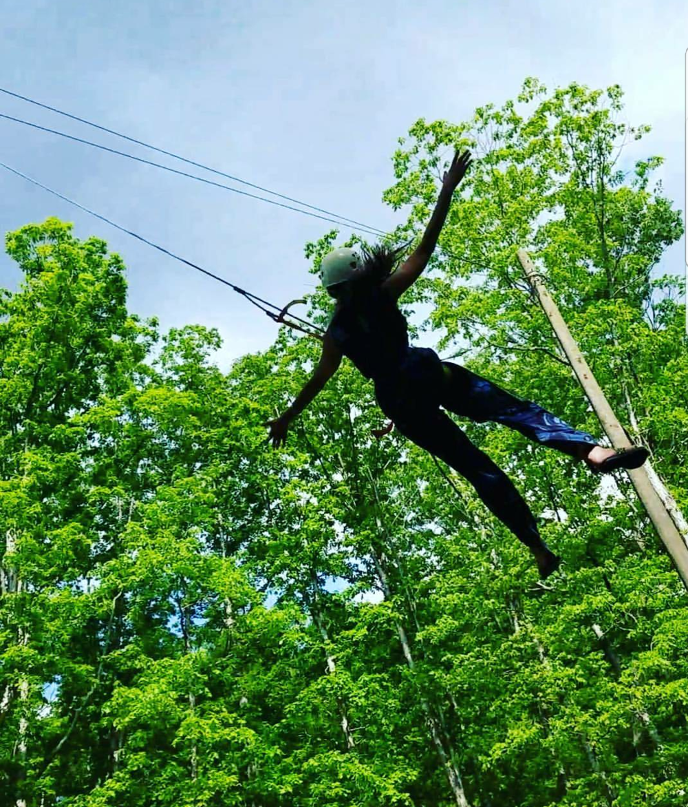 Swinging from a rope in West Virginia - May 2017 -