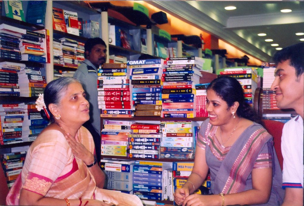 LANDMARK. 2004 - With philanthropist, writer and Infosys Foundation's Chairman, Sudha Murthy at a book launch.