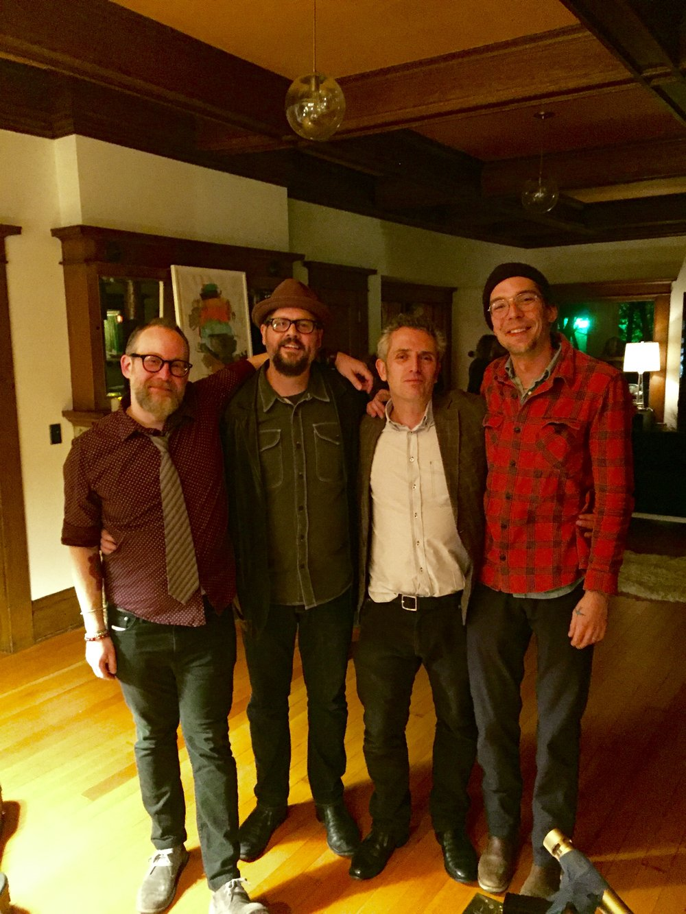 (L to R) Lee Henderson, Patterson Hood, Josh Taylor, Justin Townes Earle