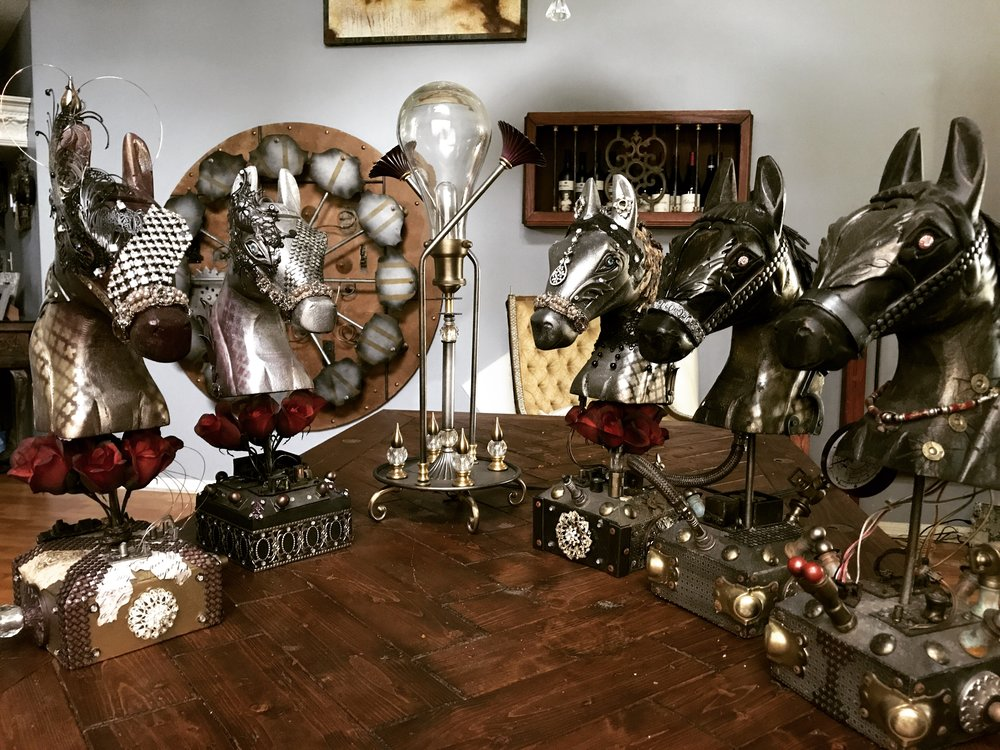 Steampunk Horse Art Collection