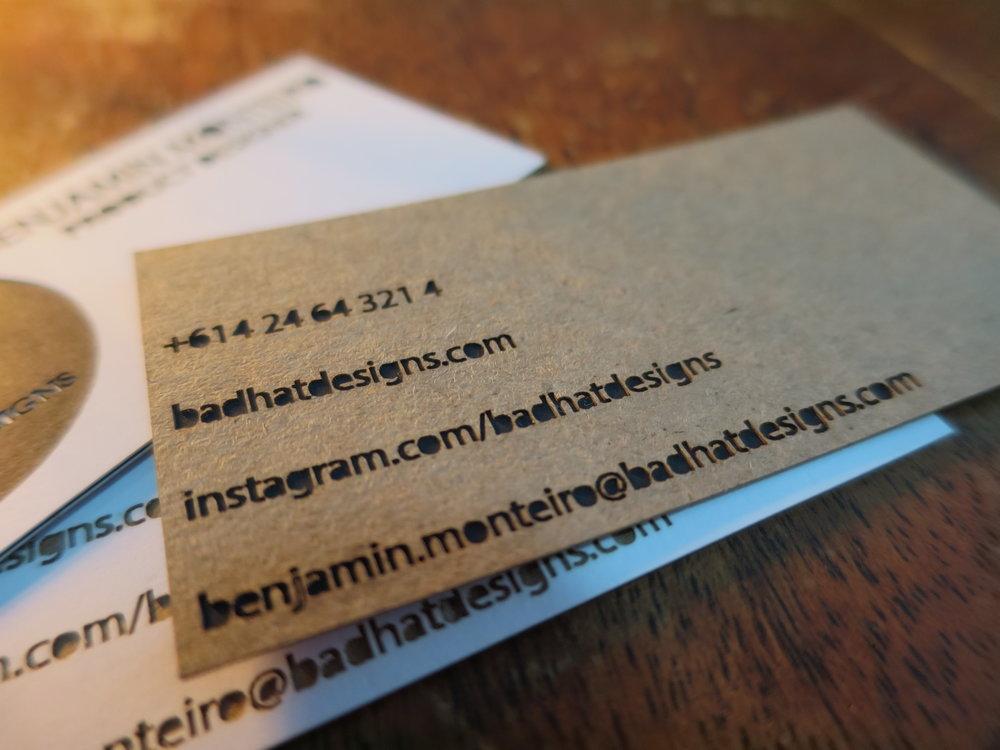Benjamin Monteiro / Product Designer - Business Cards / LASER CUTTING