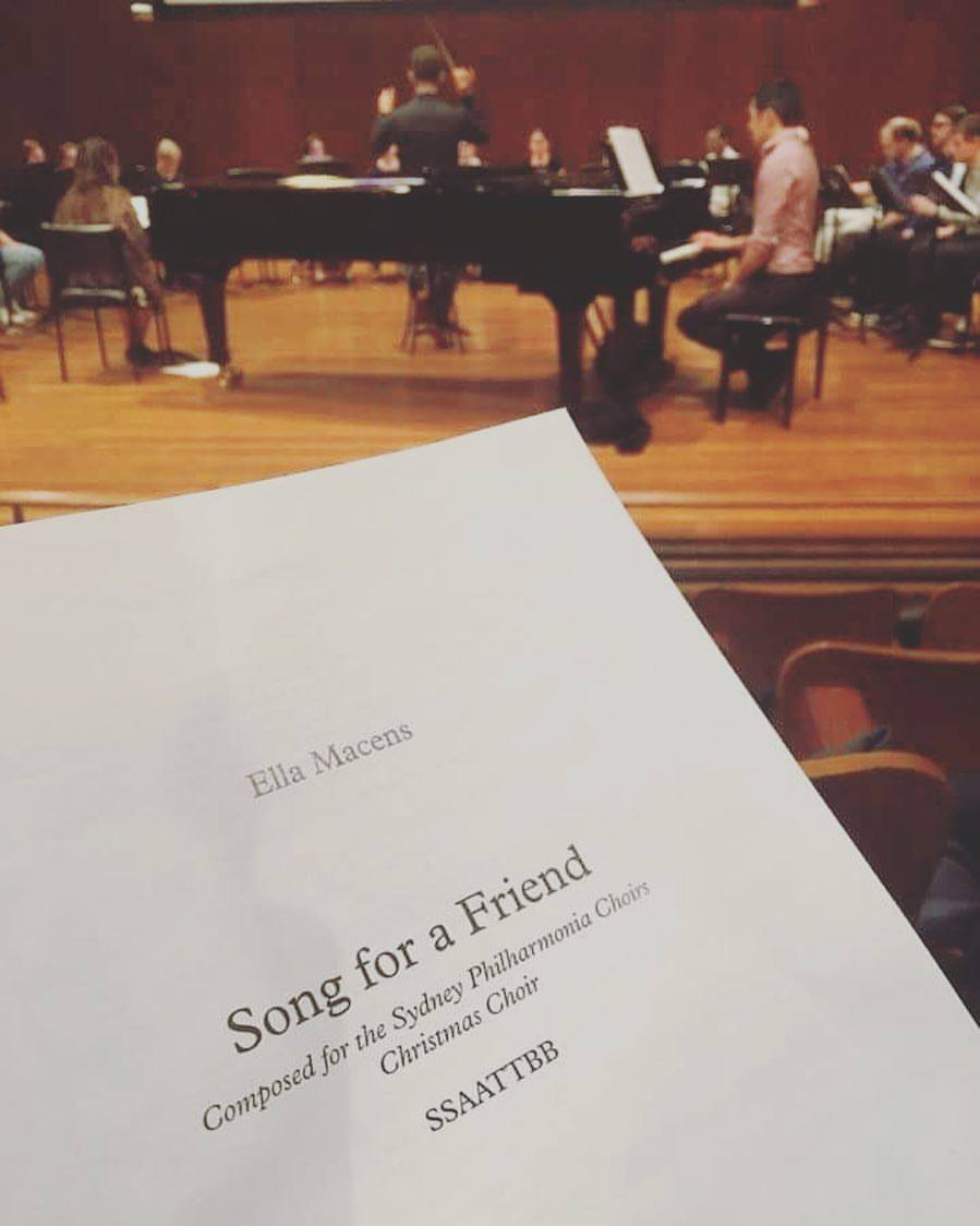 Working with Sydney Philharmonia Choirs in 2016