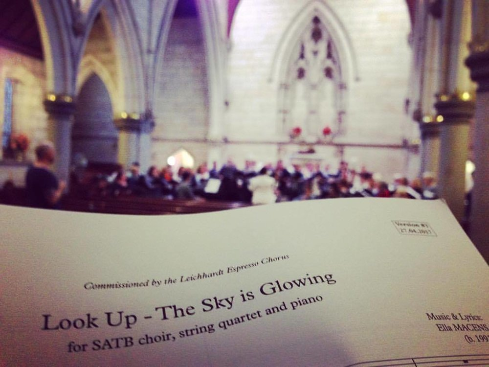 World Premiere of 'Look Up - The Sky is Glowing' in 2017