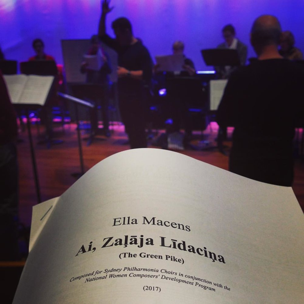 Working with Sydney Philharmonia Choirs in 2017