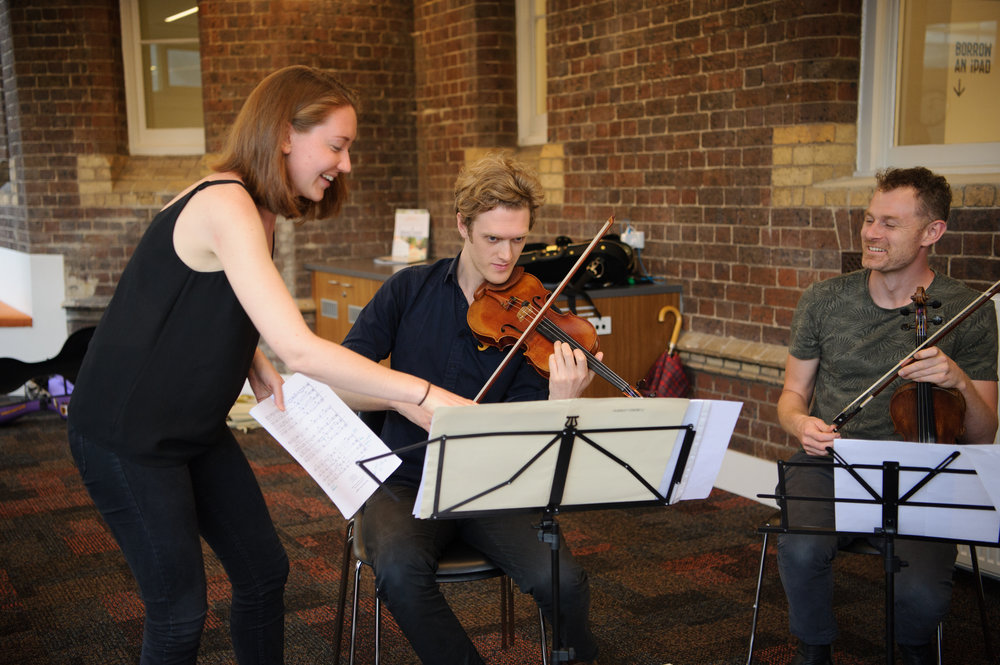 Working the the Flinders Quartet in Melbourne in 2017