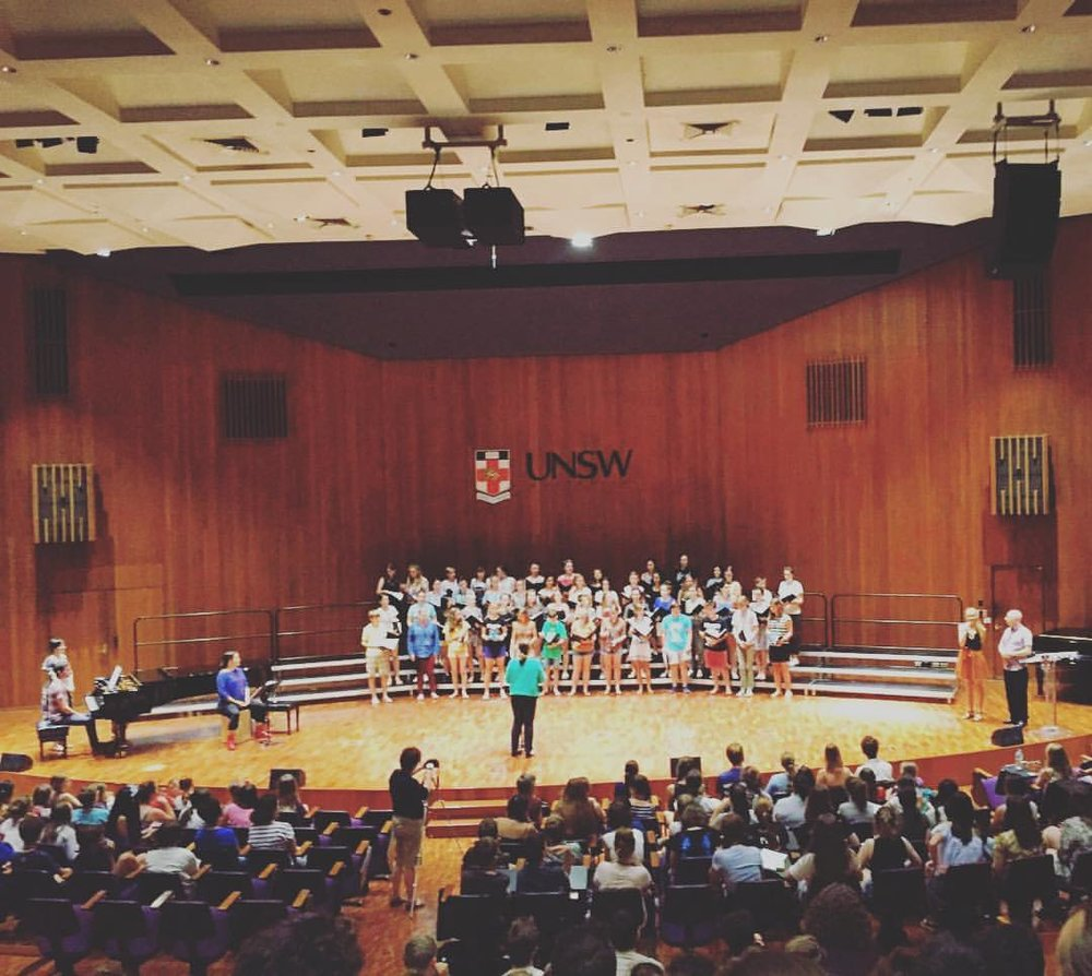 W.P. of 'I Wonder' at the Gondwana National Choral School in 2017