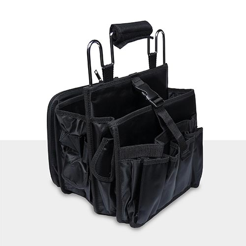 The Artero Tool Bag has adjustable clips to tighten up the compartments, making the bag even easier to transport.