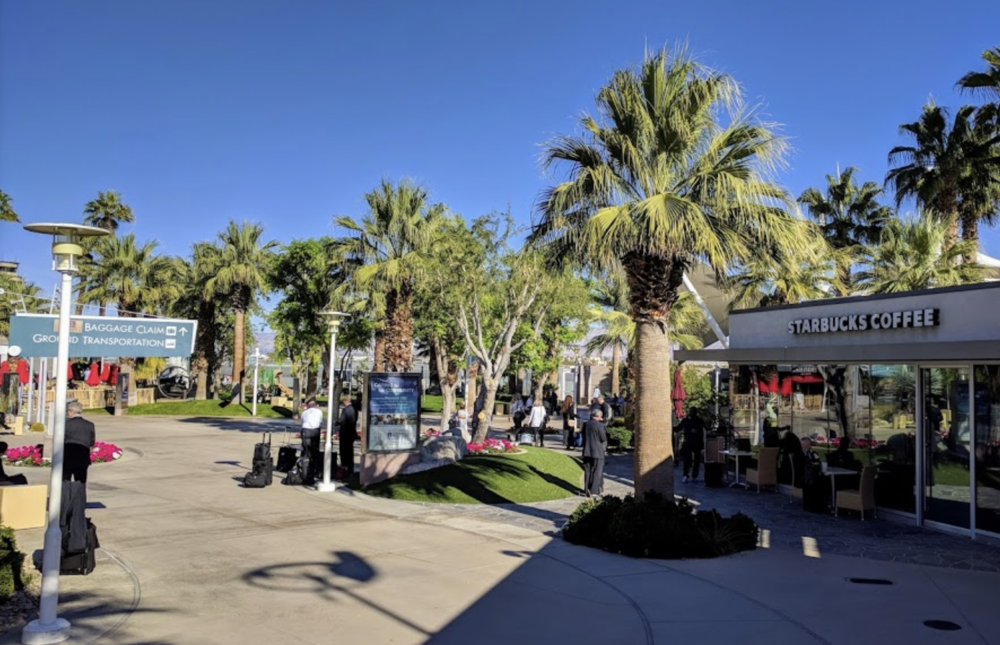 Palm Springs International Airport. This little airport is my favorite U.S. airport! It's like a vacation at the terminal!