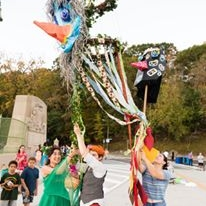 Greenfield Bridge Opening, with City of Play, photograph by Ryan Michael White