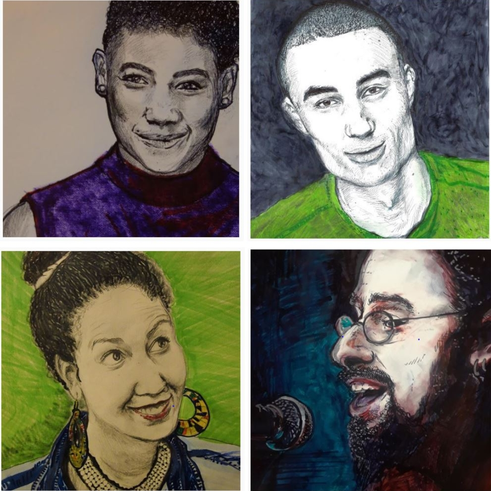 Cast Portraits for folkLAB's Other: Multiracial Folklore as part of in Our Voice