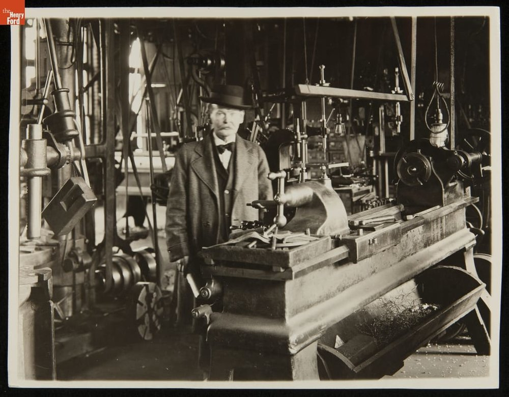 Gardiner C. Sims in a Machine Shop,c. 1900.Source:  The Henry Ford Collection