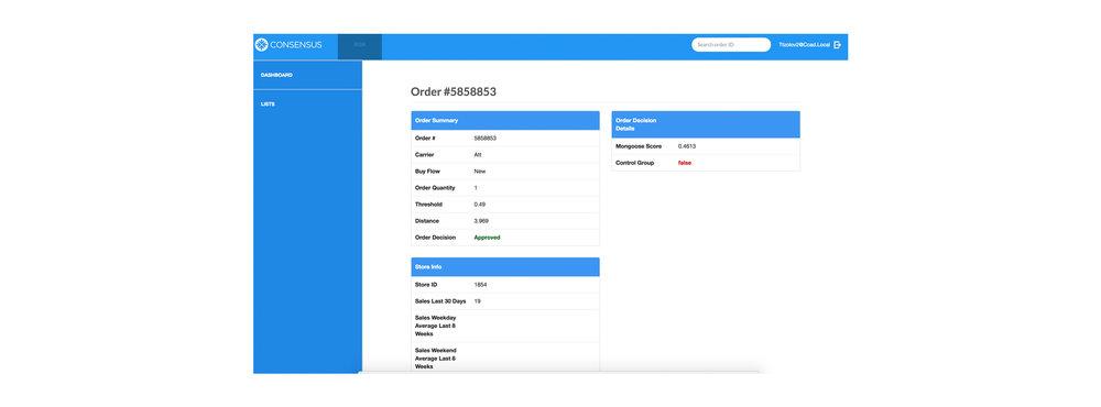 Risk Cloud™ | Order Verification Views
