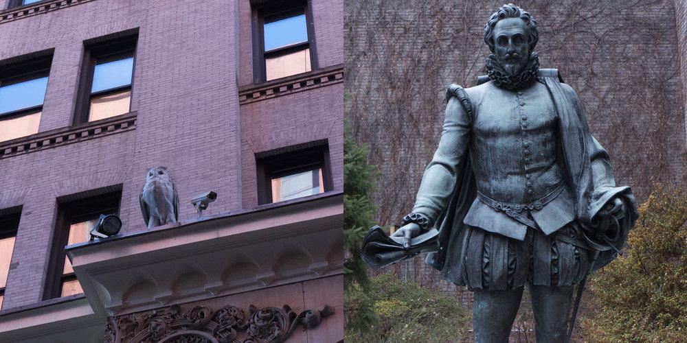 Spybird & Cervantes Statue