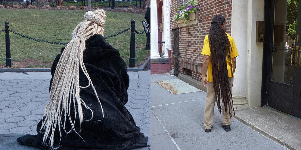 White Dreads/Brown Dreads