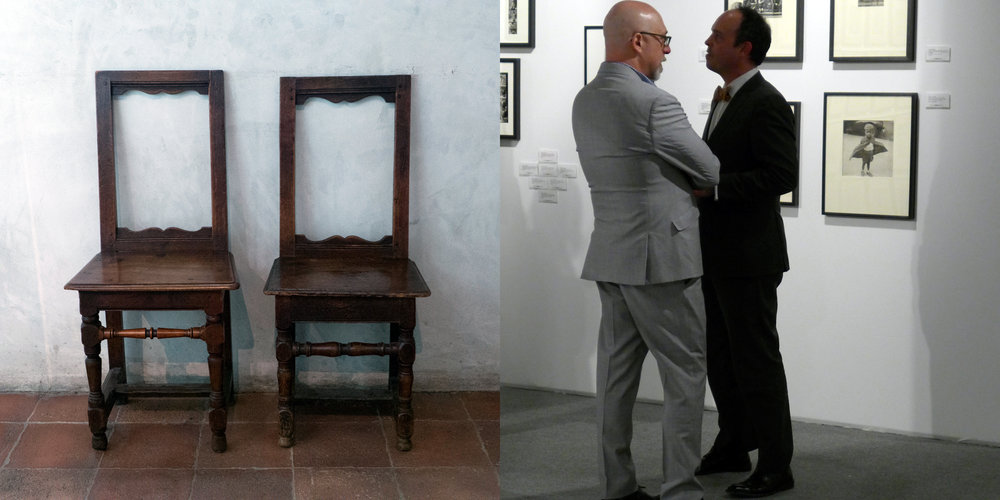 Two Chairs, The Cloisters/Two Men, AIPAD