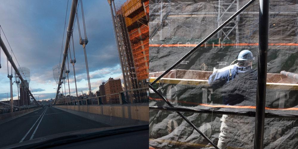 Manhattan Bridge/Construction Worker