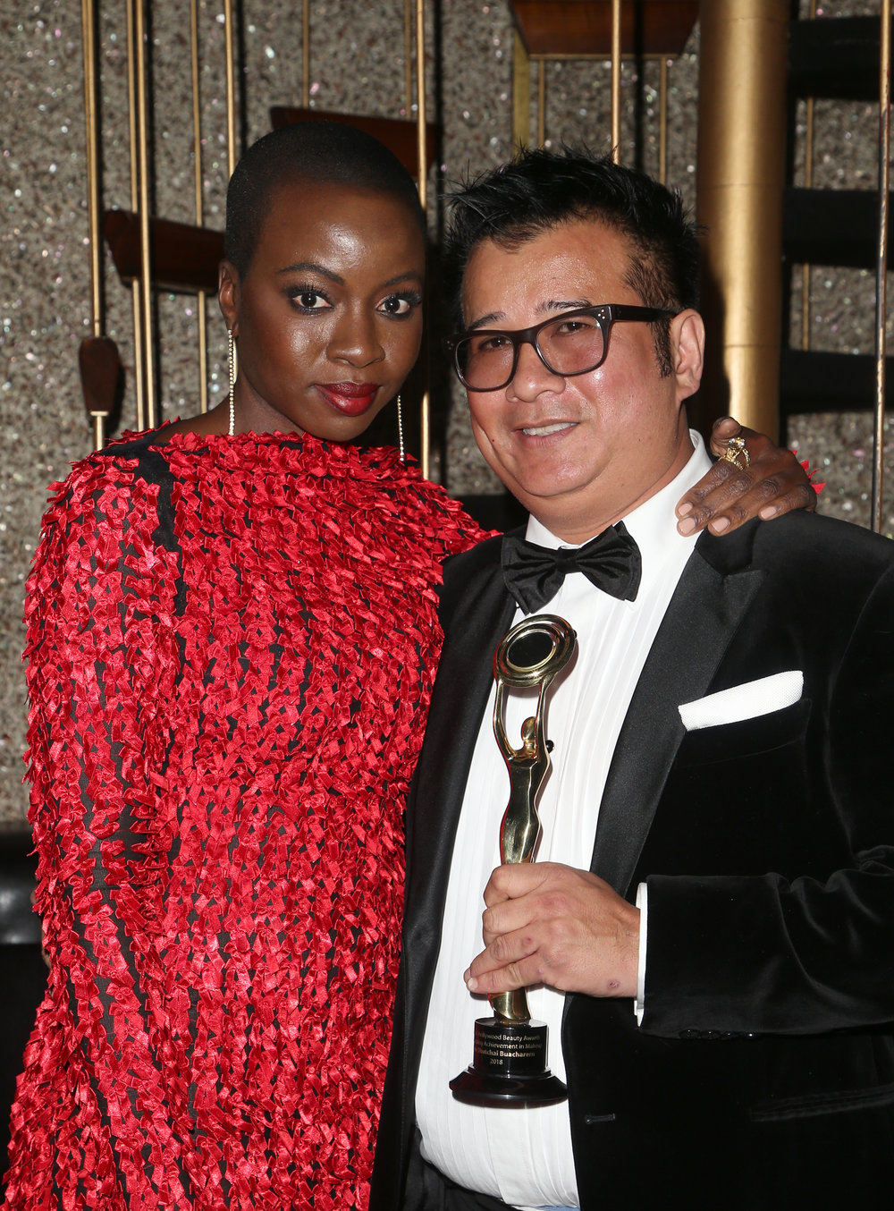 Danai Gurira and Tym Shutchai Buacharern | Feb 25, 2018, Hollywood Beauty Awards held at the Avalon