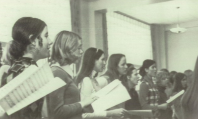 Girls' Choir in rehearsal, 1972