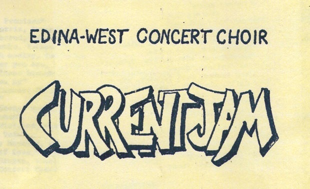 The cover page of the first Current Jam program, 1973