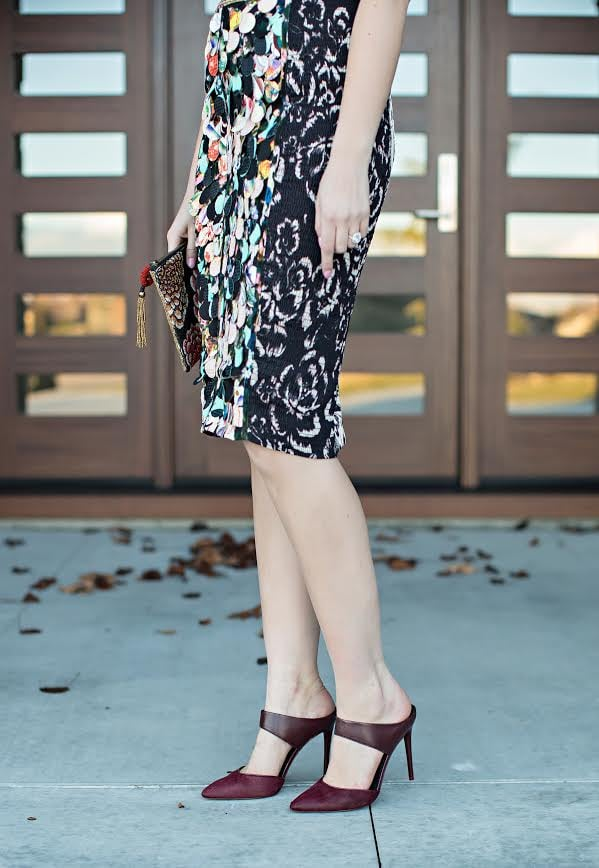 Dress: Byron Lars via Anthropologie | Beaded Clutch: Anthropologie | Oxblood Pumps: Kenneth Cole | Photos: Tara Lynn Photography