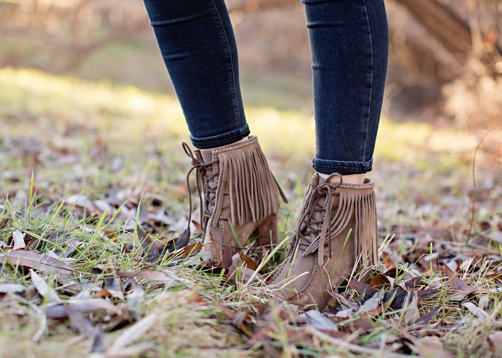 Scarf: Anthropologie | Necklace: Anthropologie | Sweater: Anthropologie | Jeans: Paige Verdugo | Boots: Frye via Dillards | Photos: Tara Lynn Photography