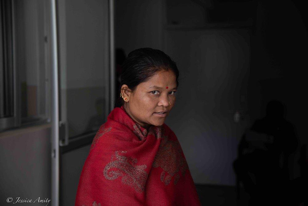 Portrait of a Majhi woman.