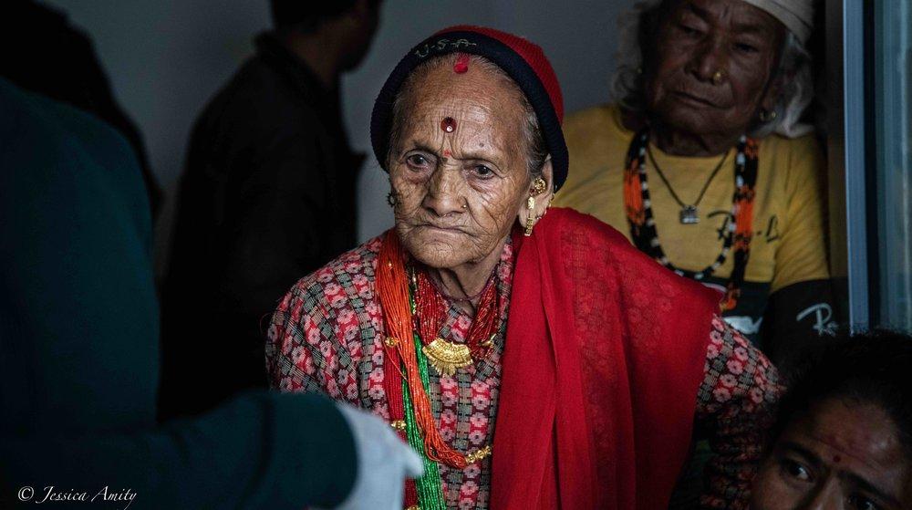 Portrait of a village elder.