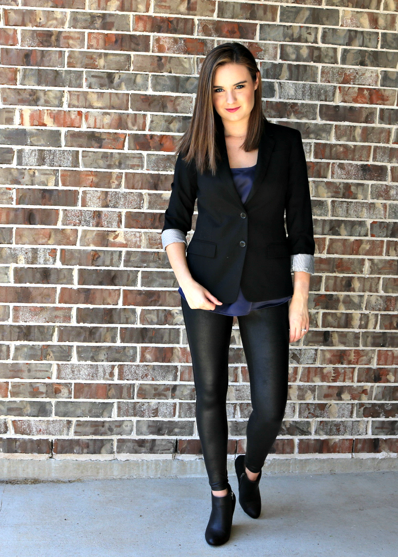 Blazer (similar)  : Shirt : Booties