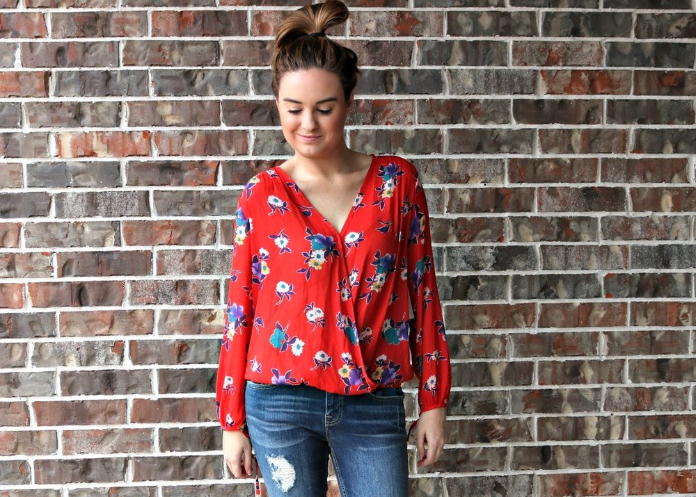 wrap top cross front top stitch fix