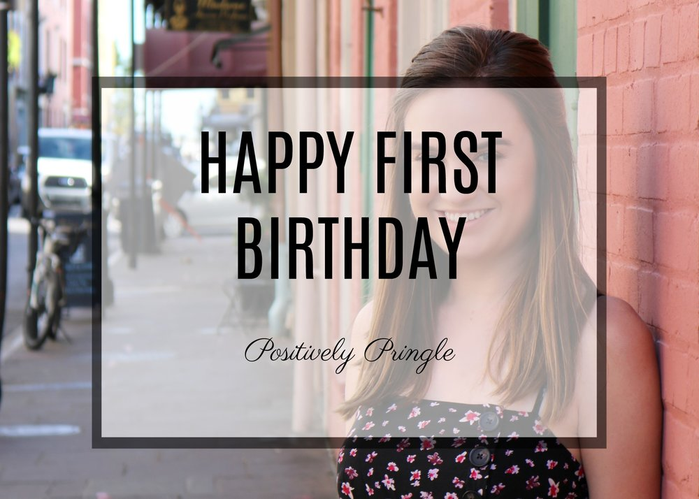 First Birthday Blog Positively Pringle