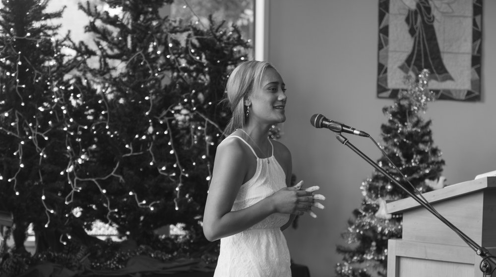 singing welcoming in the bridal party
