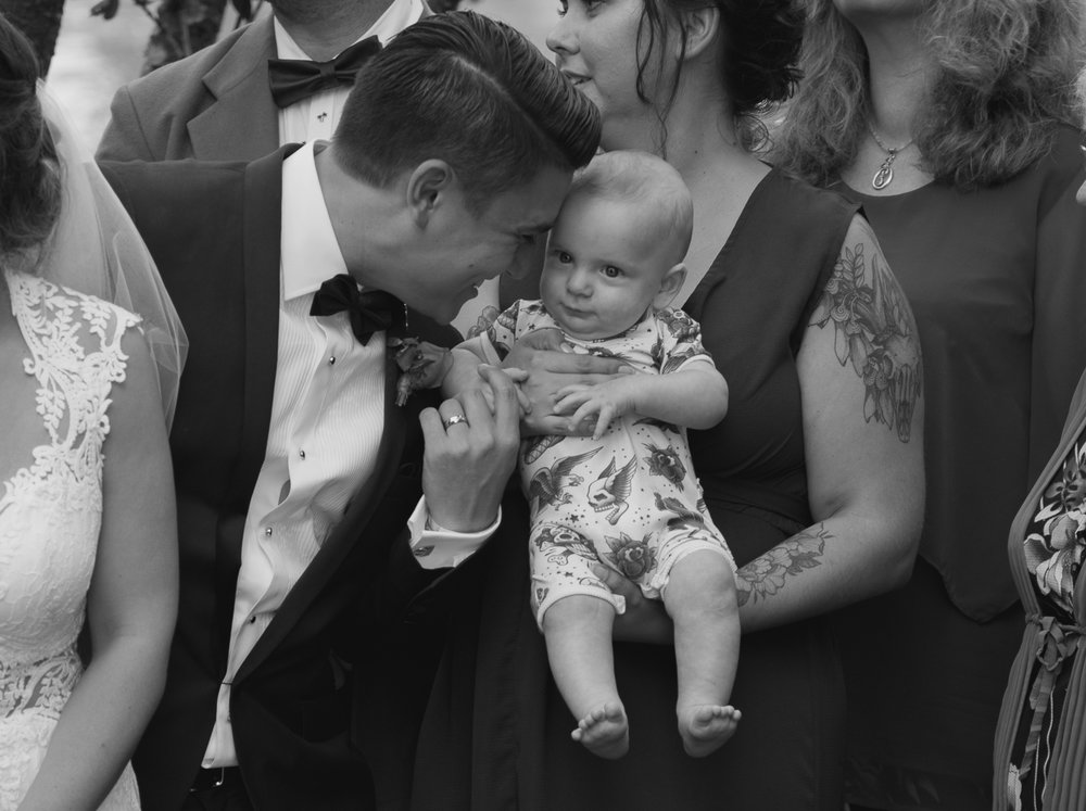 groom and nephew at wedding