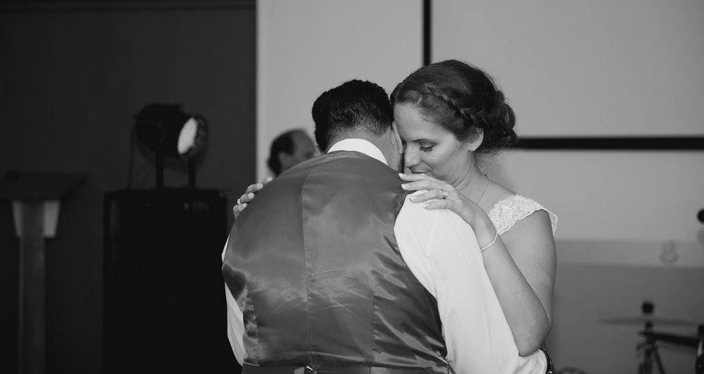 first dance at wedding reception