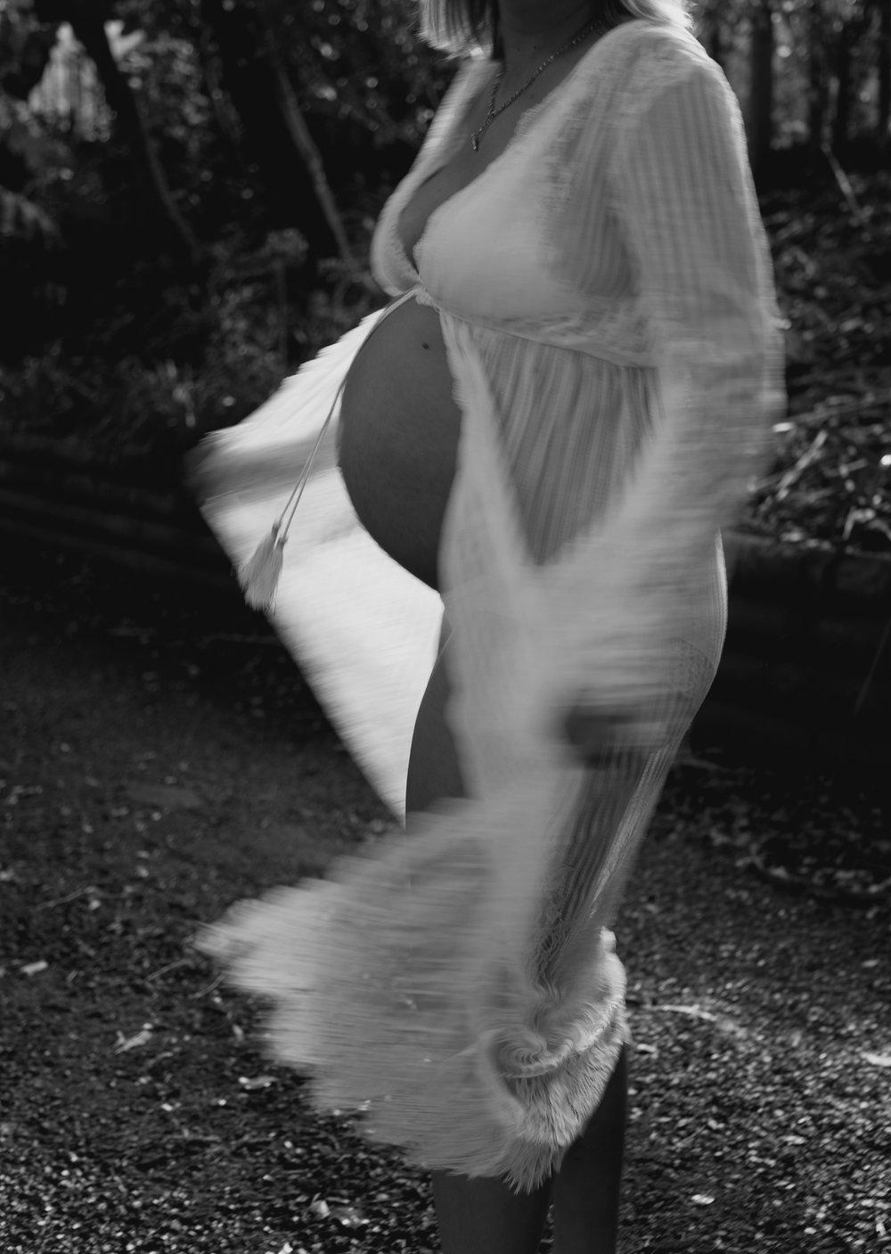 pregnant woman dancing
