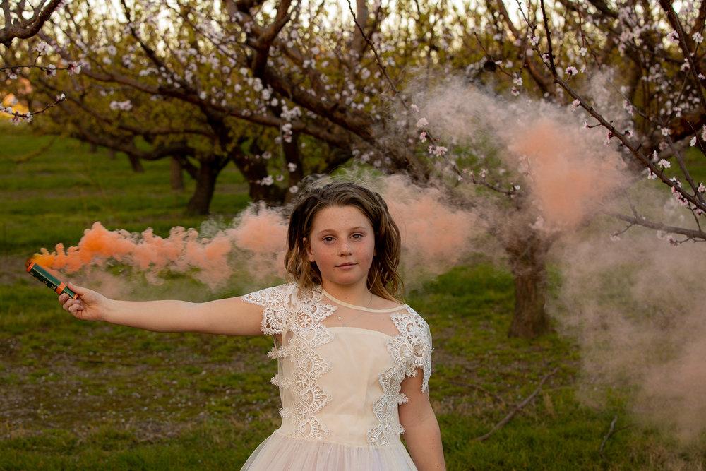 lola and her smoke bomb