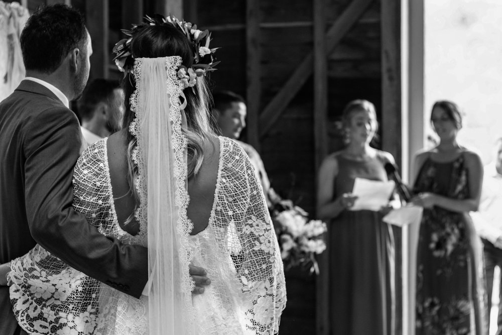hawkes bay black barn wedding pregnant bride in grace loves lace dress