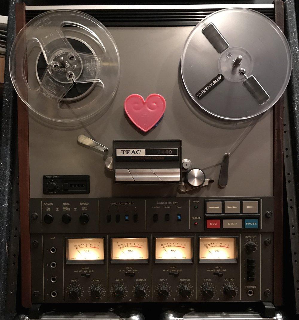 """Teac 3440 4 Track 1/4"""" tape"""