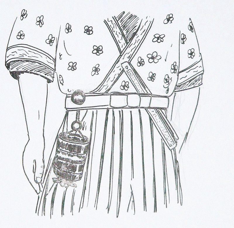 Inrō-netsuke pairing via  Wikipedia . Licensed under  CC BY-SA 2.0 FR .