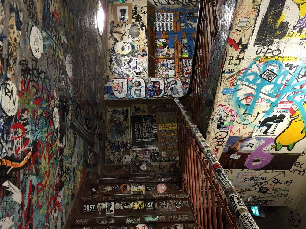 Stairwell at Hackesche Höfe in Berlin Mitte